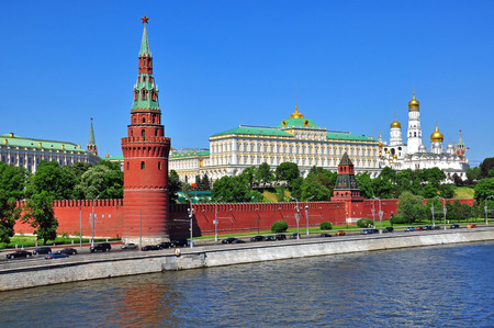 Moscow cityscape: panorama of Kremlin