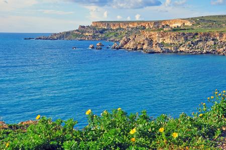 paisaje mediterraneo: Malta el verano, el paisaje mediterr�neo