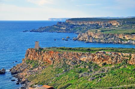 paisaje mediterraneo: Paisaje mediterr�neo en las islas maltesas