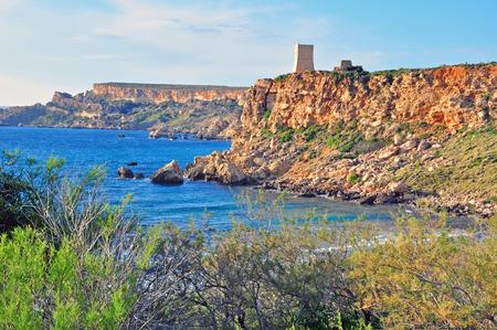 paisaje mediterraneo: Acantilados de Malta, el paisaje mediterr�neo