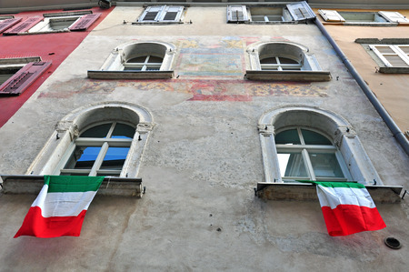 Italian house in old town photo