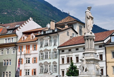 Houses of Bolzano city centre