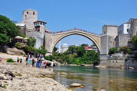 mostar: Mostar old town, Bosnia and Hercegovina Editorial