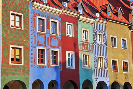 coloful: Coloful houses of Poznan central square, Poland