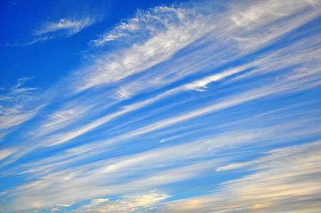 streaky: Amazing cloudy sky background Stock Photo