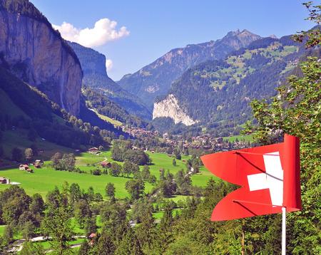 oberland: Swiss landscape. Lauterbrunnen, Bernere oberland