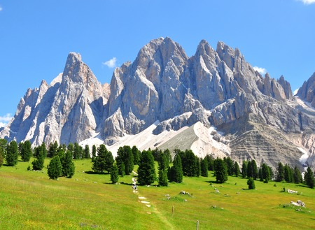 Mountain peaks in Alps, Italy photo