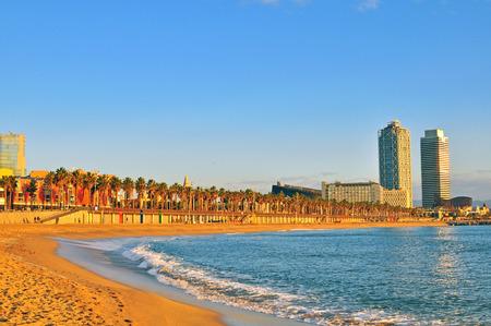 beaches of spain: On the beach of Barcelona, Spain
