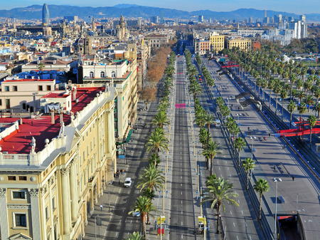 Barcelona old town, top view