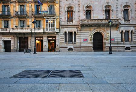 2015 年 1 月 17 日にバルセロナのランブラ ・ デ ・ カタルーニャ通りのバルセロナ、スペイン - 1 月 17 日: ビュー。バルセロナはカタルーニャ、スペ 報道画像