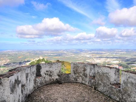 portuguese: Portuguese landscape from Pena castle Stock Photo
