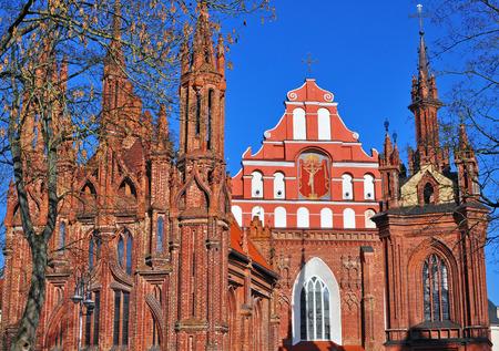 anna: Facade of St. Anna and Bernardinu church, Vilnius, Lithuania