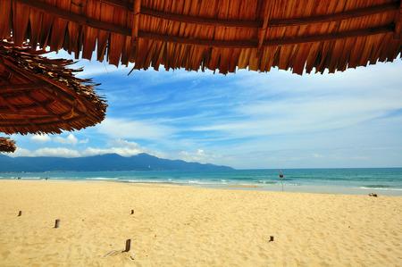 ベトナム ダナン ビーチ 写真素材