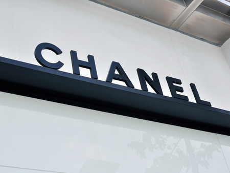 chanel: HO CHI MINH, VIETNAM - MARCH 9: Logo of Chanel flagship store in Ho Chi Minh city centre on March 9, 2015. Chanel is a world famous fashion brand founded in France. Editorial