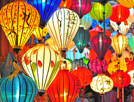 Traditional asian lanterns, Vietnam