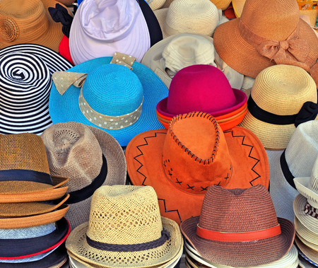 Variety of colorful hats