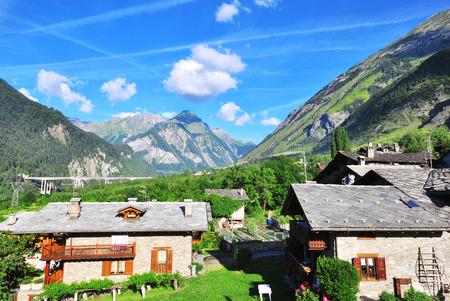 aosta: Alps on summer, Italy