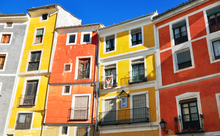 case colorate: Case colorate di Cuenca, Spagna