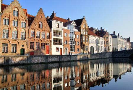 buildings city: Brugge old town, Belgium Editorial