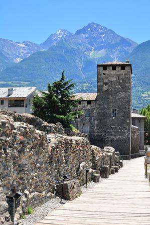 aosta: Aosta old town, Italy