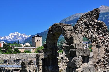 aosta: Ancient architecture of Aosta, Italy