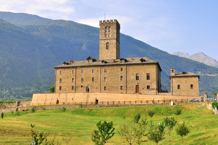 val: Ancient castle, Val dAosta, Italy Editorial