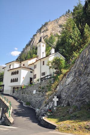 veny: Chapel in mountains, Val Veny, Italy