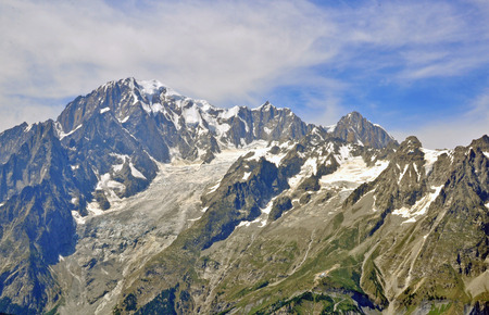 Montblanc mountain range Stock Photo