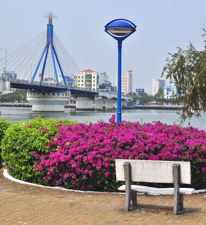 nang: DA NANG, VIETNAM - MARCH 19: View of Da Nang downtown, Vietnam on March 19, 2015. Da Nang is the third largest city of Vietnam.