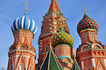 tourist attraction: Domes of moscow churches, the Red Square