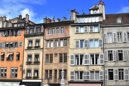 geneva: Houses of Geneva city centre, Switzerland