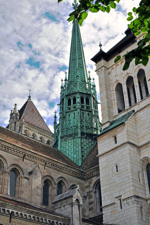 geneva: Geneva cathedral, Switzerland