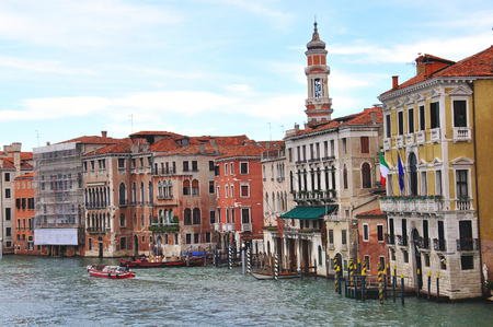 real renaissance: VENICE, ITALY - SEPTEMBER 28, 2012: View of the Grand Canal in city centre of Venice on September 28, 2012. Venice is a city in the province of Veneto, Italy.