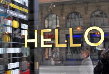 showcase: Hello golden letters in the showcase