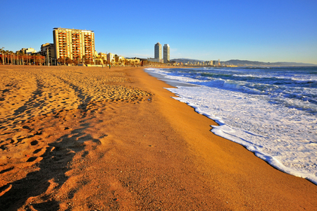 mediterraneo: View of the beach of Barcelona
