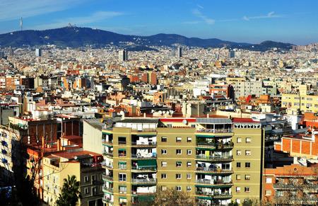 montjuic: Barcelona skyline, view from Montjuic