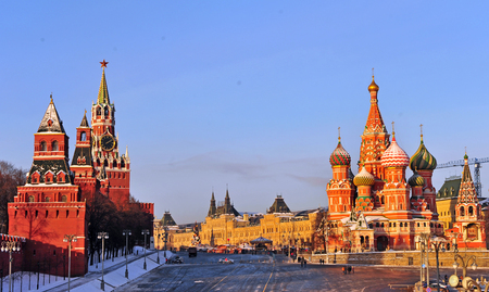 moscow churches: Red square, Moscow, Russia
