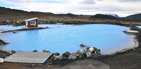 geothermal: Natural geothermal lagoon in Iceland