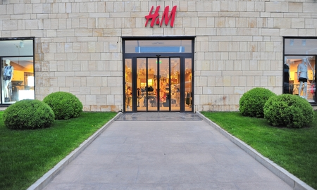 hm: TIMISOARA, ROMANIA - MAY 2: Facade of H&M store on May 2, 2016. H&M is a global fashion retailer headquarted in Sweden.