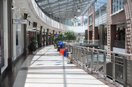 westend: BUDAPEST, HUNGARY - MAY 16: Interior of the Westend shopping centre in Budapest on May 16, 2016.
