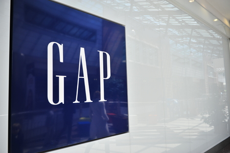 retailer: BUDAPEST, HUNGARY - MAY 16: Logotype of Gap in Budapest on May 16, 2016. Gap is an american world famous fashion retailer. Editorial
