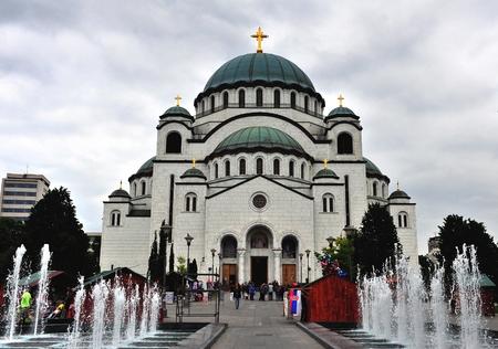 serbia: Saint Savva cathedral, Belgrade, Serbia Editorial