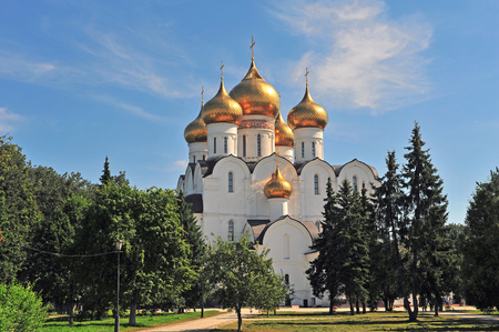 golden ring: The cathedral of Yaroslavl city, Golden ring, Russia Stock Photo
