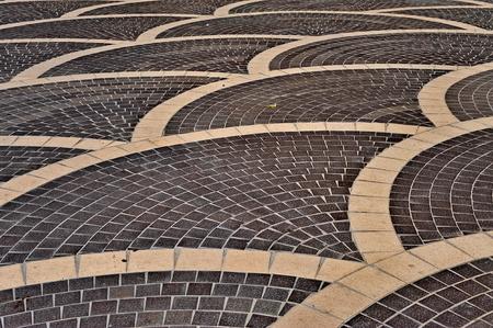 baku: Black and white floor tiles in Baku
