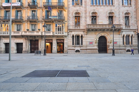 real esate: BARCELONA - FEBRUARY 1: View of Rambla shopping street, Barcelona on February 1, 2015. Barcelona is the capital of Catalonia and second largest city of Spain.
