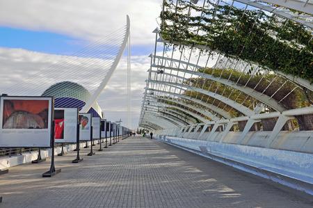sceince: VALENCIA, SPAIN - JANUARY 3: The City of Arts and Sciences of Valencia on January 03, 2011. Valencia is the capital of the autonomous community of Valencia. Editorial