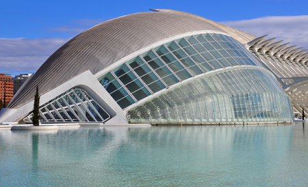 sceince: VALENCIA, SPAIN - JANUARY 3: Museum in The City of Arts and Sciences of Valencia on January 03, 2011. Valencia is the capital of the autonomous community of Valencia.