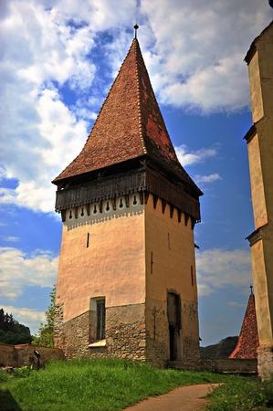 biertan: Old tower in Biertan town in Romania