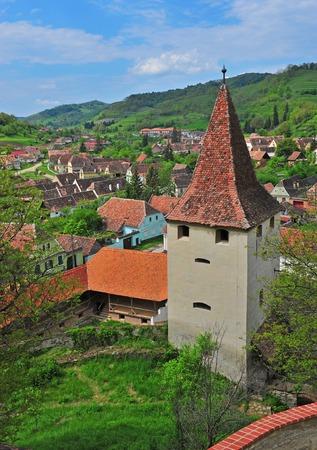 biertan: Tower of Beirtan church in Transylvania; Romania