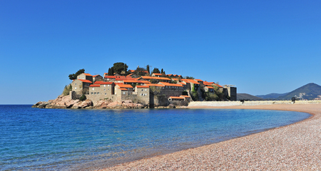 Sveti Stefan resort on adriatic sea, Montenegro